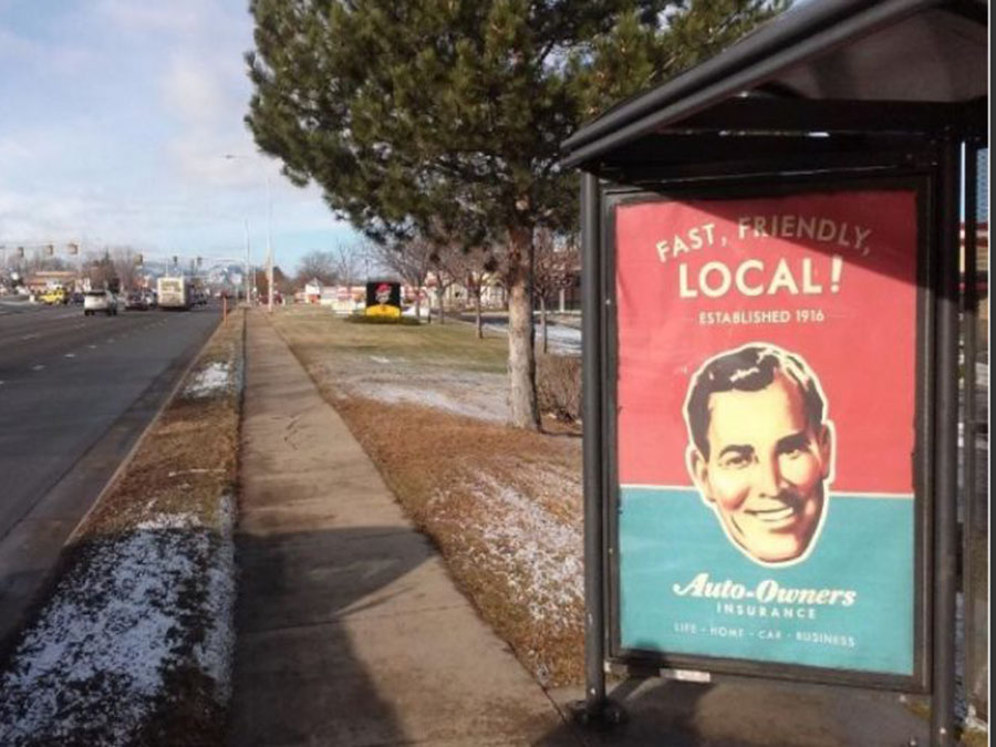 aoi transit-shelter advertising campaign